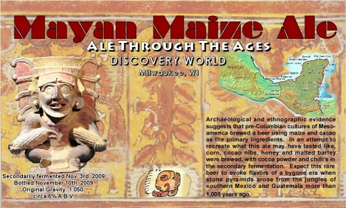 Mayan Maize label